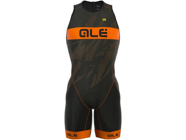 Alé Cycling Triathlon Olympic Record Mężczyźni Back Zipper pomarańczowy/czarny